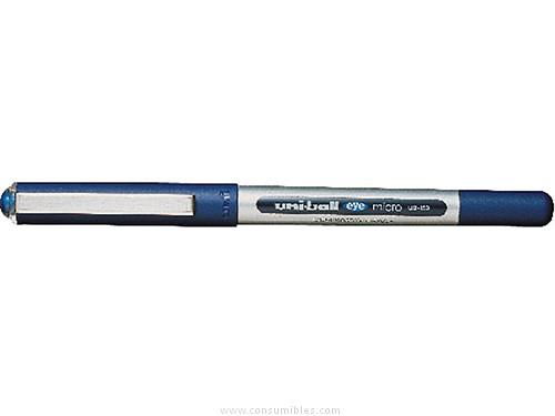 ENVASE DE 12 UNIDADESUNI BALL ROLLER UB 150 AZUL TRAZO 0,3 MM TINTA LIQUIDA 162552000