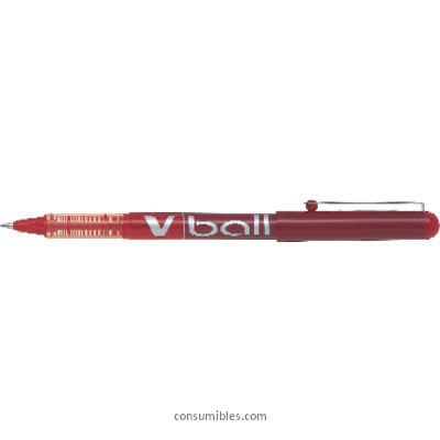 Rollers tinta liquida PILOT ROLLER V-BALL 05 ROJO TRAZO 0,3MM TINTA LIQUIDA BL-VB5-R