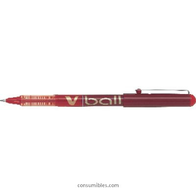 Rollers tinta liquida PILOT ROLLER V-BALL 07 ROJO TRAZO 0,7 MM TINTA LIQUIDA BL- VB7-R