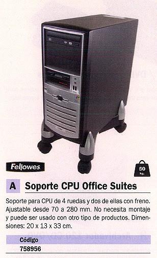 FELLOWES SOPORTE CPU OFFICE SUITES 20X13X33 CM AJUSTABLE 8039001