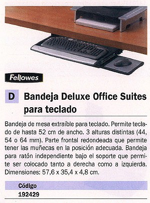 FELLOWES BANDEJA DELUX OFFICE SUITES AJUSTABLE PARA IMPRESORAS AJUSTABLE 3 ALTURAS 8031201