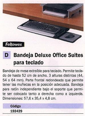 FELLOWES BANDEJA DELUX OFFICE SUITES AJUSTABLE PARA IMPRESORAS AJUSTABLE 3 ALTURAS 8031201
