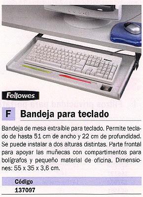 FELLOWES BANDEJA PARA TECLADO 55X35X3,6 CM 93800-70