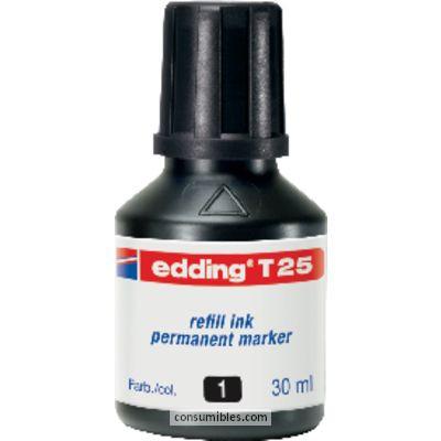 rellenado FRASCO DE TINTA EDDING T-25 30 ML NEGRO T-25-01T-25-01