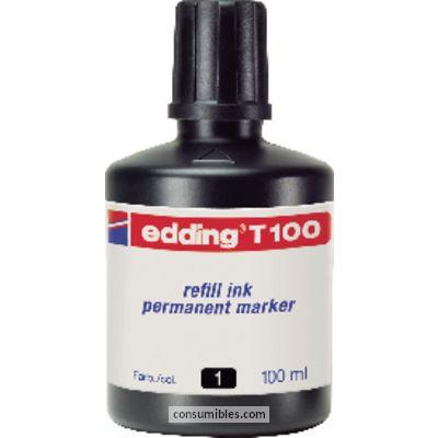 Tinta de rellenado EDDING BOTE TINTA T100 100 ML NEGRO T100-01