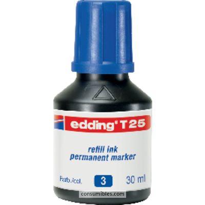 Tinta de rellenado EDDING FRASCO DE TINTA 30 ML AZUL T-25-02T-25-03