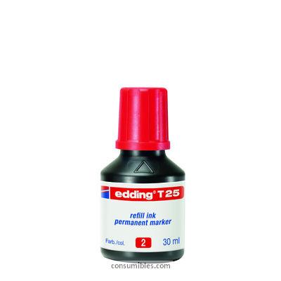 Tinta de rellenado EDDING FRASCO TINTA 30ML RO T-25-02T-25-02
