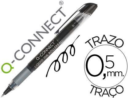 ENVASE DE 10 UNIDADES ROTULADOR Q-CONNECT ROLLER BALL NEGRO 0,7 MM