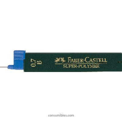 FABER CASTELL MINA SUPER POLYMER 12 UD TRAZO 0.9 MM HB 120900