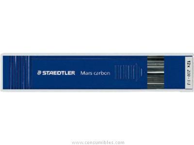 STAEDTLER MINA MARS CARBON ESTUCHE 12UD TRAZO 2 MM H RESISTENTE 200 H