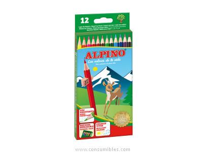 ALPINO ESTUCHE LAPICES COLORES SURTIDOS 12 UD 3,3 MM SACAPUNTAS INCLUIDO AL010654