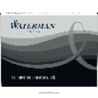 WATERMAN CAJA CARTUCHOS DE TINTA NEGRO S0110940