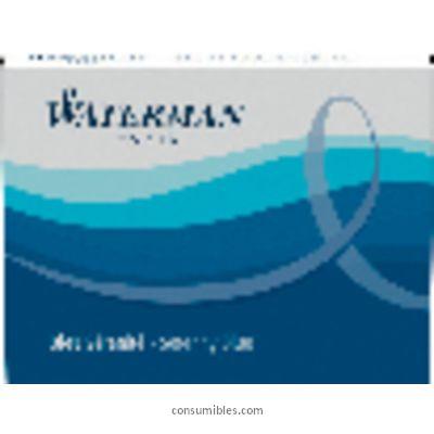 Cartuchos tinta estilografica WATERMAN CARTUCHO TINTA INTERNACIONAL 6 UD AZUL SERENITY S0110950