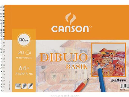 ENVASE DE 10 UNIDADES CANSON BLOC DIBUJO BASIK 20 HOJAS 23X32,5 CM 130 GR 200409580