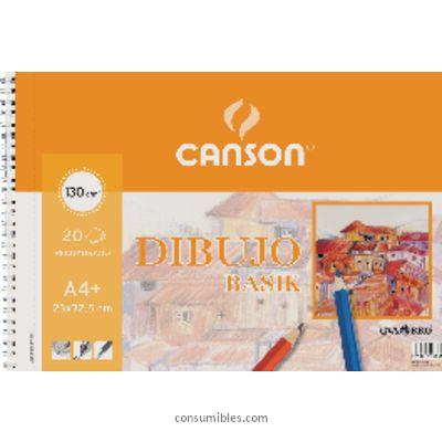 ENVASE DE 10 UNIDADES CANSON BLOC DIBUJO GAMA DIBUJO BASIC 20 HOJAS A4 150 GR 200400695