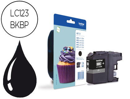 Cartuchos de tinta CARTUCHO DE TINTA NEGRO BROTHER LC-123BK
