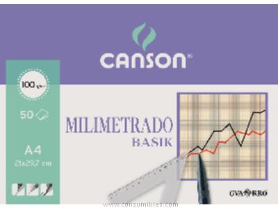 GUARRO CANSON PAPEL 50 HOJAS A3 90 GR MILIMETRADO 200402863