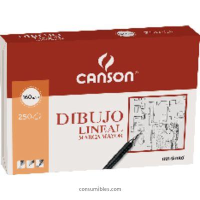 Blocs de dibujo CANSON PAPEL SATINADO 250 HOJAS A4 160 GR BLANCO 200401404