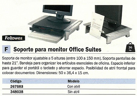 FELLOWES SOPORTE MONITOR CON ATRIL 8036601