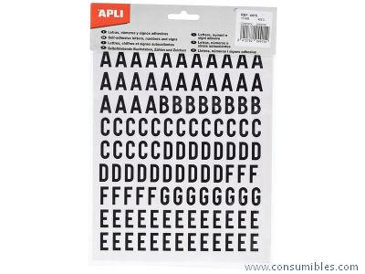 Comprar Letras, numeros y signos adhesivos 732672 de Apli online.
