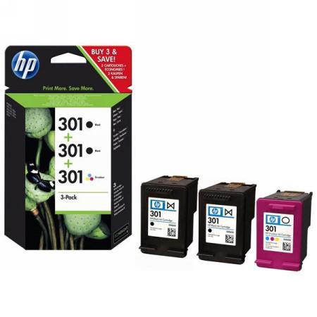 HP 301 PACK DE TINTA E5Y87EE (2XCH561EE + 1XCH562EE)