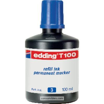 Tinta de rellenado EDDING FRASCO DE TINTA T-100 AZUL 100 ML T100-03