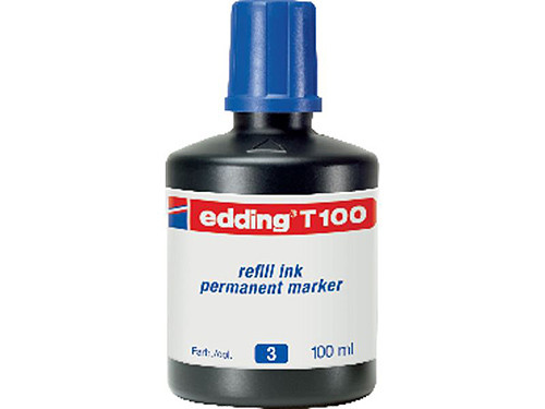 EDDING FRASCO DE TINTA T 100 AZUL 100 ML T100 03