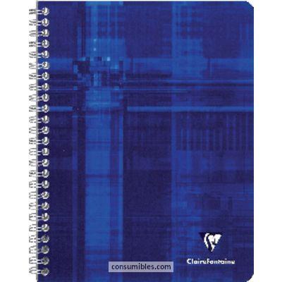 ENVASE DE 5 UNIDADES CLAIREFONTAINE CUADERNO ESPIRAL METRIC 50H 170X220 CUADRICULA 5X5 SURTIDO 8722C