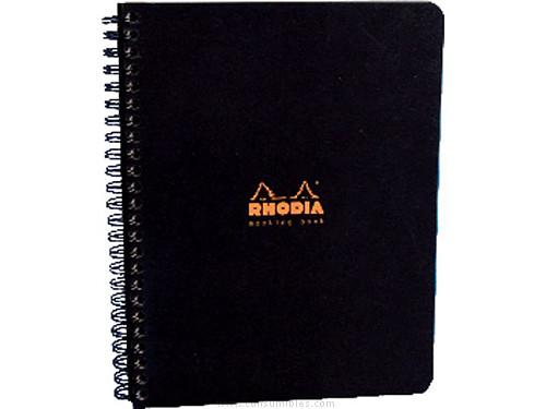 ENVASE DE 5 UNIDADES RHODIA CUADERNO MEETING BOOK 80H A4+ 225X297 NEGRO/NARANJA 19340C