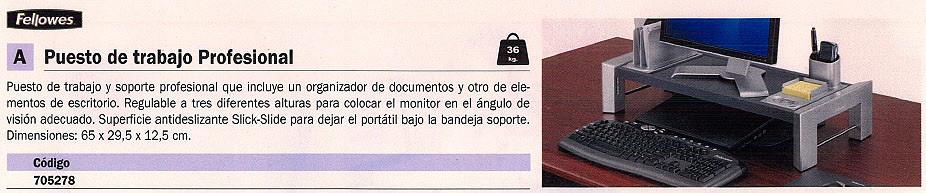 FELLOWES PUESTO DE TRABAJO 65X29,5X12,5X CM REGULABLE 8037401