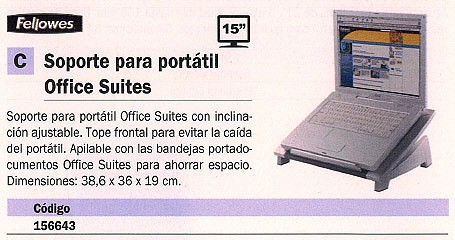 FELLOWES SOPORTE PARA PORTATIL OFFICE SUITES 8032001