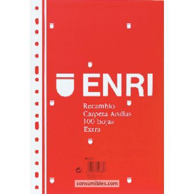 ENRI RECAMBIO DE PAPEL 100H FOLIO CUADRICULA 4X4 100430055