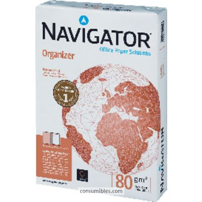 ENVASE DE 5 UNIDADES NAVIGATOR ORGANIZER. PAPEL MULTIFUNCION 500H 80 G. A4 1581UN