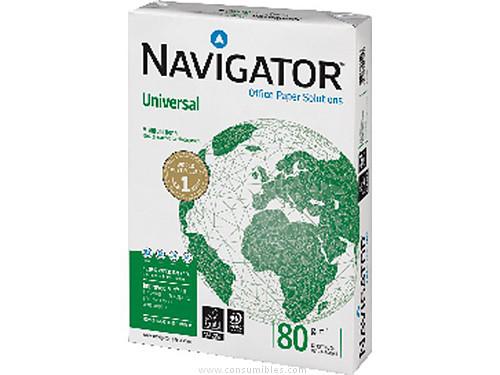 ENVASE DE 5 UNIDADES NAVIGATOR UNIVERSAL. PAPEL MULTIFUNCION 500H 80 G. A4 0472UN