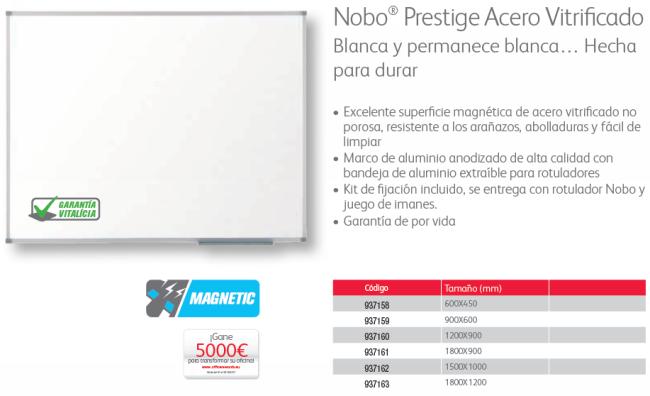 NOBO PIZARRA PRESTIGE ENAMEL 1800X1200 1905224