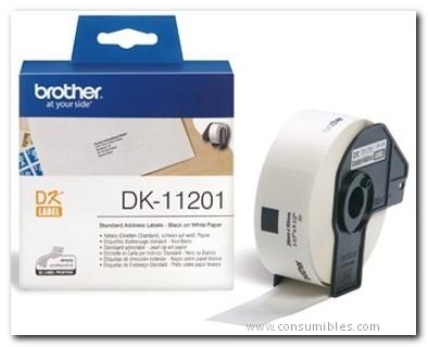 Rotuladoras BROTHER ETIQUETA 400 UD 29X90 MM NEGRO/BLANCO DK11201