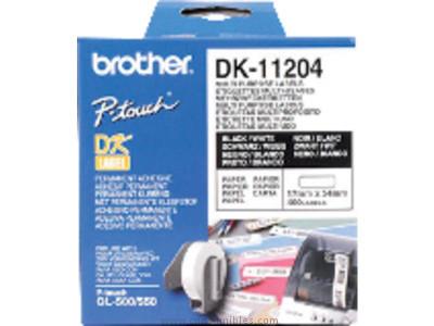 BROTHER CINTAS DK LABEL ROTULACION 17X54 NEGRO/BLANCO 400 UD DK11204