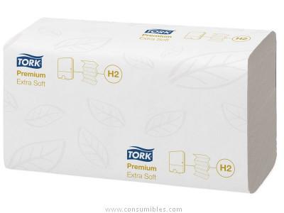 TORK RECAMBIO TOALLAS CAJA 21 UD 210X340 100 SERVICIOS 2 CAPAS PARA H2 SYSTEM 100297