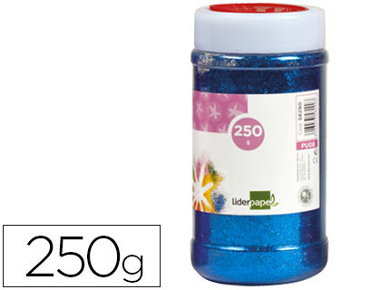 PURPURINA LIDERPAPEL FANTASIA COLOR AZUL METALIZADO BOTE DE 250 GR