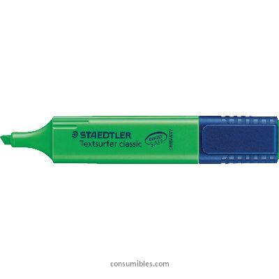Marcadores fluorescentes STAEDTLER MARCADOR FLUORESCENTE BRILLANTE TEXTSURFER TRAZO 1-5MM PUNTA BISELADA VERDE 364-5