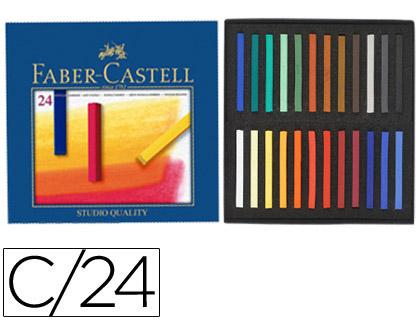 Lapices Pastel TIZA PASTEL FABER CASTELL ESTUCHE CARTÓN DE 24 UNIDADES COLORES SURTIDOS 12 83 24