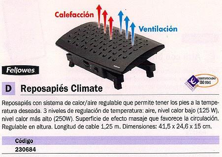 FELLOWES REPOSAPIES CLIMATE SUPERFICIE EFECTO MASAJE 8070901