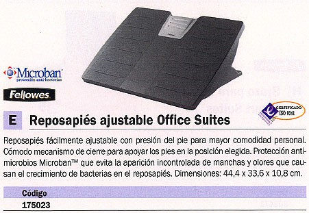 FELLOWES REPOSAPIES OFFICE SUITES 8035001