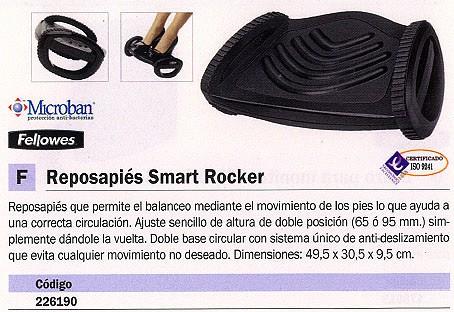 FELLOWES REPOSAPIES SMART ROCKER DOBLE BASE CIRCULAR 8023901