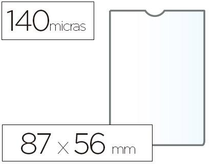 ESSELTE FUNDAS PORTACARNETS 100 UD 87X56 MM 140 MICRAS 46001