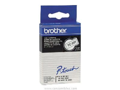 BROTHER CINTAS ROTULACION 9 MMX7,7M BLANCO/NEGRO TC395