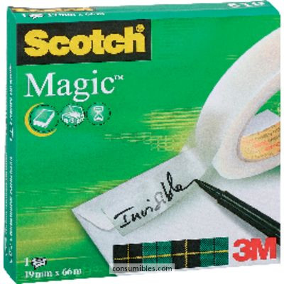 SCOTCH CINTA ADHESIVA 19 MMX66M INVISIBLE KT000040651