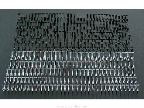 Encuadernacion GBC CANUTILLOS WIRO CAJA 100 UD PLATA 9,5 MM METALICO 34 ANILLAS RG810697