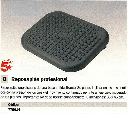5 STAR REPOSAPIES BASE ANTIDESLIZANTE INCLINABLE 6100801
