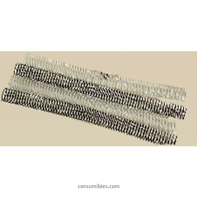 Encuadernacion con espiral metalica GBC ESPIRALES METÁLICAS CAJA 100UD 40H LOMO 8MM DIAMETRO NEGRO ESP915108